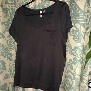 Anthropologie Charcoal Silky Tee